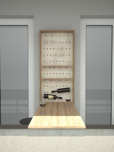 Wine cupboard