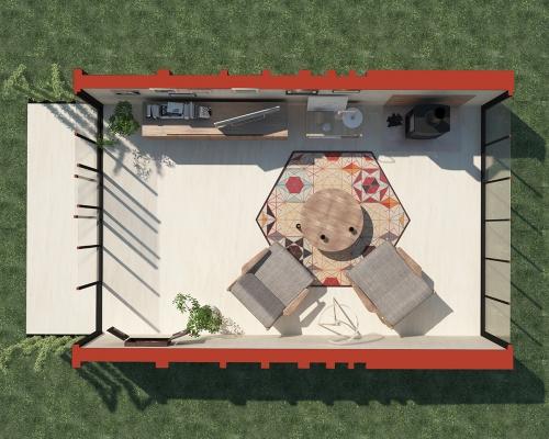 Modular room 1 - Plan