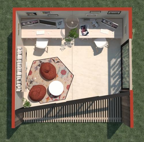 Modular office 1 - Plan